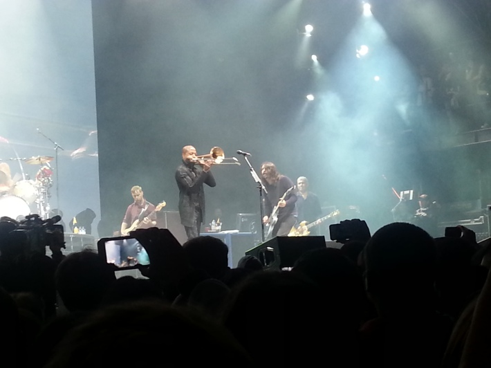 Dave getting schooled, this time from Trombone Shorty