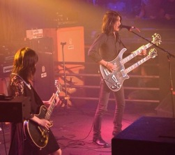 Pictured left to right: Wata and Takeshi of the band Boris.