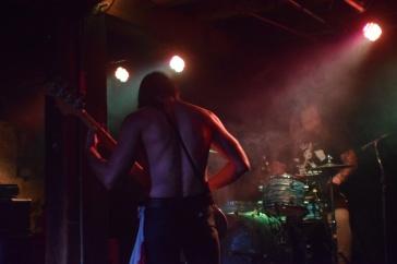 Bassist Shock from the band Sweat Lodge performing at The Masquerade (Atlanta).