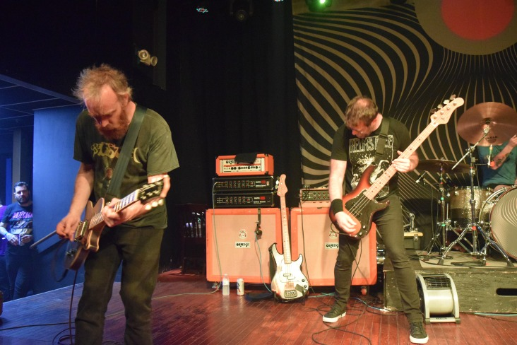 Pictured left to right: David Sullivan (guitar) and Aaron Beam (bass/vocals) of the band Red Fang from their recent stop at The Masquerade in support of their new LP, Only Ghosts.