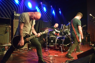 Pictured left to right: Jonathan Nunez (guitar) & Rick Smith (drums) from the band Torche during their recent stop at The Masquerade with Whores and Red Fang.