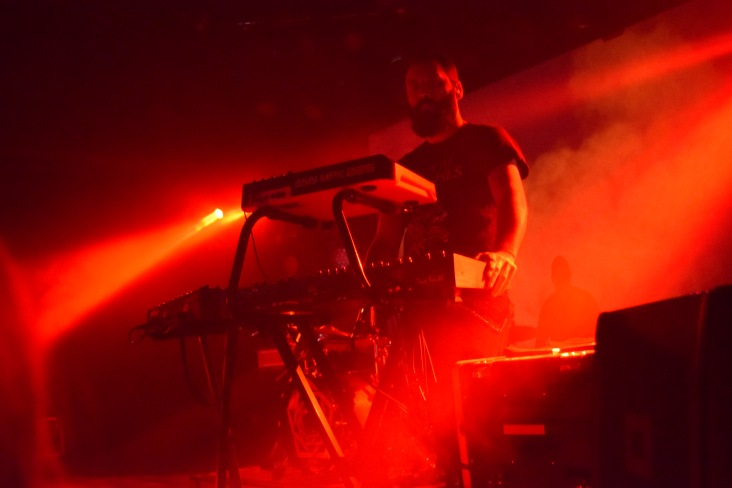 Franck Hueso of the band Carpenter Brut at their recent tour stop at Terminal West in Atlanta.
