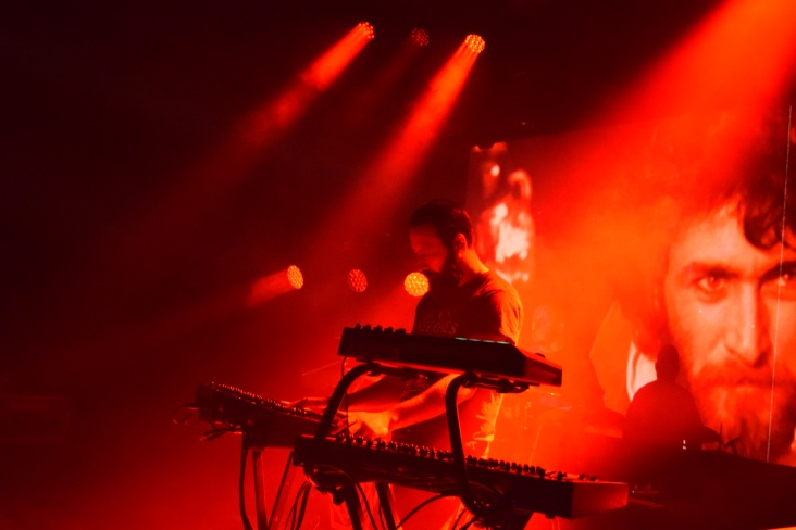 Franck Hueso from the band Carpenter Brut at their recent tour stop at Terminal West in Atlanta.