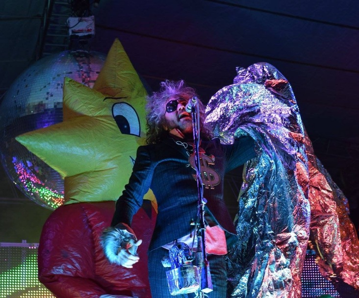Wayne Coyne and some friends from The Flaming Lips during their performance at The Major Rager (2017) in Augusta, Ga.
